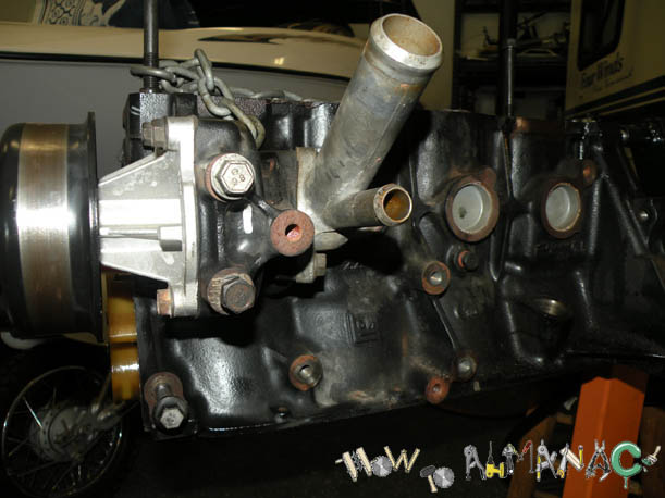 09 09 s10 2 2l engine rebuild engine removed driver side of engine water pump and water inlet are aluminum and will have to be removed if your machine shop is going to hot tank the
