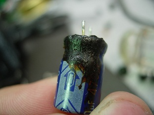 capacitor residue