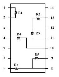 resistor chip pins