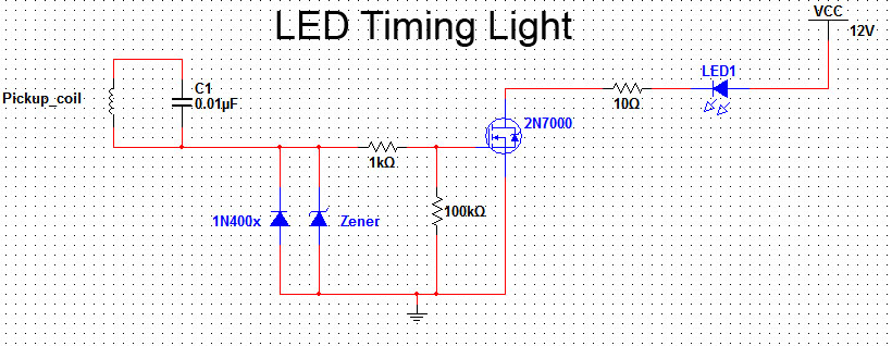 make an led timing light rh howtoalmanac com Basic Light Wiring Diagrams snap on timing light wiring diagram